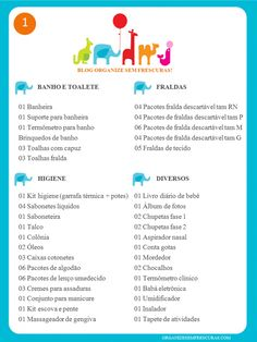 Organize sem Frescuras | Rafaela Oliveira » Arquivos » Lista completa de Chá de Bebê para imprimir