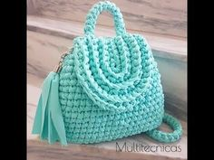 Crochet || party crochet bag || oval shape - YouTube