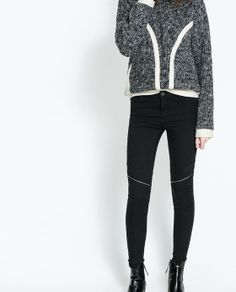 ZARA - NEW THIS WEEK - STRETCH TROUSERS WITH ZIPS