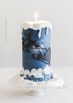 Christmas sleigh Candle Cakes - Taarten