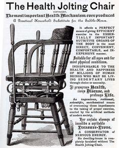 The Health Jolting Chair, Weird Vintage Ad, via Dark Roasted Blend