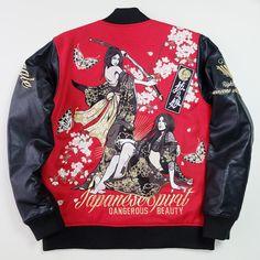 Vintage Japanese Divine Retribution Geisha Red x Black Leather Dangerous Beauty…