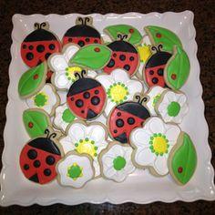 Ladybug and Flower Sugar Cookies