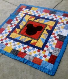 Mickey Mouse Quilt Patterns | Mickey Mouse Baby Quilt by bethbastian | Quilting Ideas