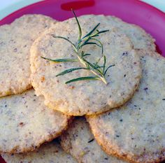 DIY Holiday Food Gift: Vegan Citrus Rosemary Cookies | HealthySlowCooking.com