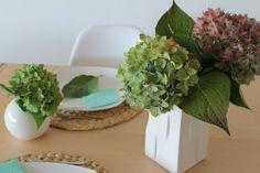 TIZIANO Tischdeko Hortensien
