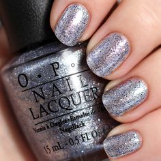 @AllLacqueredUp is taking the New Year, New You #sallybeautychallenge by trying a new shade a day. Day 3 features Shine for Me from the #OPI 50 Shades of Grey Collection. #swatch #polishswatch #nails