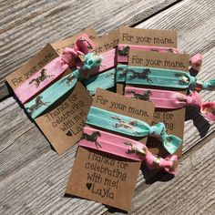 Excited to share this item from my shop: Birthday favor hair ties, favor gift, thank you for a Horse Theme Birthday Party, Horse Party Favors, 6th Birthday Parties, Birthday Party Favors, 9th Birthday, Horse Party Decorations, Girl Horse Party, Cowgirl Birthday Invitations, Birthday Ideas