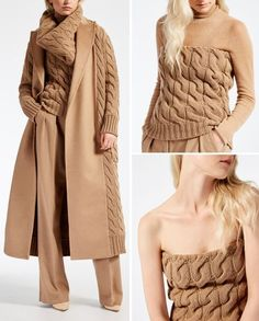 Nadire Atas on Knits to Wear Love Fashion, Winter Fashion, Fashion Looks, Fashion Outfits, Knitwear Fashion, Crochet Fashion, Casual Chic, Coats For Women, Clothes For Women