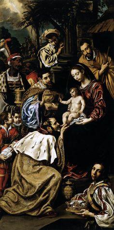 LUIS TRISTAN - Adorazione dei Magi - 1620 -Scuola di Museum of Fine Arts, Budapest