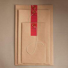 japanisches Dokumentenkuvert mit Knopf in 3 Größen