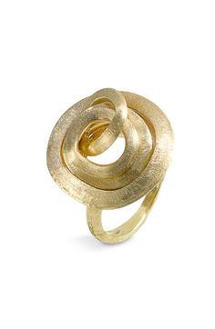 Marco Bicego 'Jaipur Link' Large Cluster Ring 18k brushed gold.