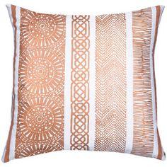 bandhini home paths copper throw pillow