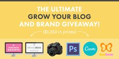 "The Ultimate ""Grow Your Blog + Brand"" Giveaway! http://thenectarcollective.com/giveaways/grow-your-blog-brand/?lucky=3925"