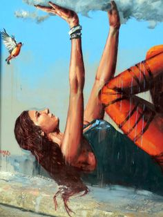 Artist : Fintan Magee ...Women hold up Half the Sky ♡ www.halftheskymovement.org