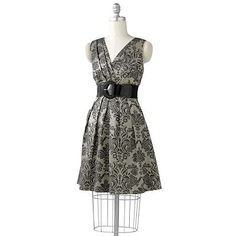 Corey p Jacquard Empire Dress