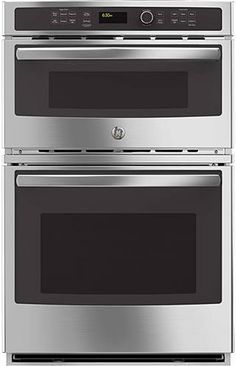 GE wall oven Preserve floor and countertop space by installing this GE double wall oven into your kitchen. This electric built-in oven combines a convection microwave and an oven. giving you the option to cook two dishes at the same time.