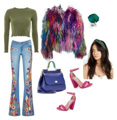 """""""Hippie"""" by lily-lovejoy on Polyvore featuring мода, Alice + Olivia, Adrienne Landau, Steve Madden, Topshop и Dolce&Gabbana"""