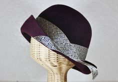 lady mary cloche in plum