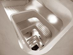 caixa forum madrid staircase museum herzog de meuron  #architecture #demeuron #herzog Pinned by www.modlar.com
