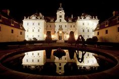 The Valtice Castle in the Moravia region of Czech Republic, Aug. 21, 2011. The castle, from the 12th century, is filled with ballrooms, lavishly decorated private chapels, gilded chairs and elaborate frescoes and now houses the Czech Republic's National Wine Center. (Gordon Welters/The New York Times)