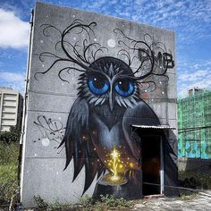Awesome owl piece created by Jeff Soto in early November for Pow Wow Taiwan.