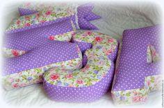 Купить Буквы-подушки Нежная сирень - сиреневый, буквы-подушки, буква-подушка, буквы подушки