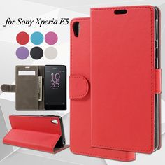 Cover Case for Sony Xperia E 5 PU Leather Mobile Phone Bag Wallet Stand funda Phone Cases for Sony Xperia E5 Shell Coque Capa