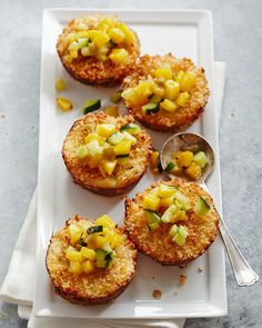 Impress your guests with these crab cakes that wow. Real lump crabmeat and tiny shrimp come together to make this handheld appetizer meaty and delicious. Making them in a muffin tin ensures each cake is the same size. #appetizers #partyfood #fingerfood #miniappetizerrecipes #muffintinrecipes #bhg Seafood Recipes, Appetizer Recipes, Cooking Recipes, Bhg Recipes, Unique Recipes, Shrimp Cakes, Crab Cakes, Muffin Tin Recipes