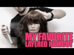 YOU asked for my favorite LONG Layered Haircut so here it is! I decided to do one of my favorite Layered Haircuts which on this mannequin ended up being more. Haircuts For Medium Hair, Short Layered Haircuts, Medium Hair Cuts, Medium Hair Styles, Long Hair Styles, Thin Hair Updo, Thick Hair, Bangs Tutorial, Hair Cutting Techniques