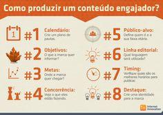 Como produzir conteúdo engajado? #Infografico