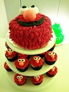 Elmo cake perfect for a 12 and 3 birthday party kids will love it