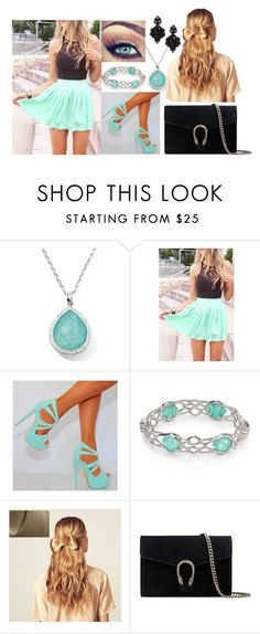 """""""😇😇😇😇"""" by milanazec ❤ liked on Polyvore featuring Ippolita, WithChic, Alexis Bittar, Hershesons, Gucci and Tasha"""