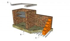 comment construire barbecue en brique éléments structure