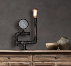 Vintage Industrial Table Lamp Industrial Lights by StudioFive55, $225.00