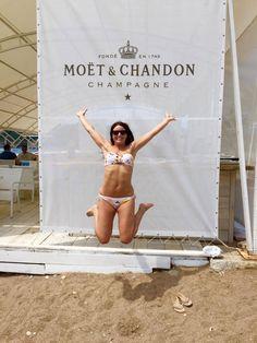 Jump for champagne! Samantha Claire in her #HeidiKlein Honolulu Bandeau Bikini