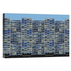 """Global Gallery 'Big, Bigger, Biggest' by Henk Van Maastricht Graphic Art on Wrapped Canvas Size: 16"""" H x 24"""" W x 1.5"""" D"""
