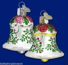 PINK FANCY BELL OLD WORLD CHRISTMAS ORNAMENT 38002 | eBay