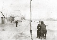 Vincent van Gogh seen from the back with painter Émile Bernard in Paris. 1886