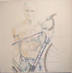 """I have one Italian"" acrylic painting Birgita Golob-Vurnek"