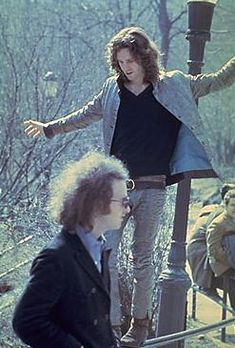 Jim Morrison and Robbie Kreiger in NYC Central Park.