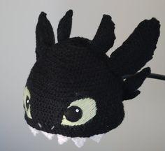 toothless dragon crochet beanie - Google Search