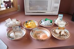 Awesome Science Fair Project- We put half a bar of 7 different soaps in the microwave for 1 minute each to see what happens to the soap.  We had VERY cool results.
