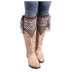 MaxMaxi Bohemia Tassel Checkered Wool Knitting Winter Short Leg Warmers (Coffee&Khaki). Imported. Elastic leg warmers, one size fit most of women. Dress up your boots and booties with trendy lace trim boot socks. Look great with skirts, leggings and skinny jeans. Hand wash and air dry.