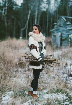 Campfires in the snow     [My beautiful friend Shanelle as photographed by my talented friend Emily Blake]