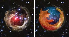 V838 Monocerotis Star And Firefox