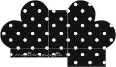 Printable Box, Free Printables, Dots Free, Polka Dot Top, Perfect Wedding, Black, Diys, Boxes, Polka Dots