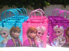 Disney Frozen party favor bags Goodie Tote by uniqueboutiquebygami