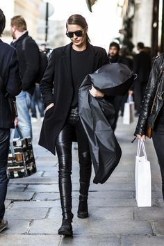 Skinny Leather Pants | All Black #style