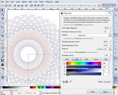 DiBL - InkScape-plugin waarmee polaire rasters gecombineerd en verder bewerkt kunnen worden